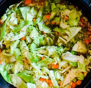 Cabbage carrot casserole