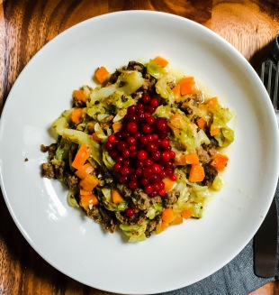 cabbage carrot casserole with broad beans