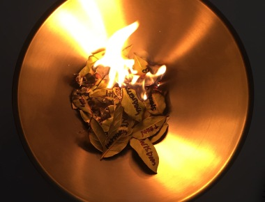 Burning Bay Leaves